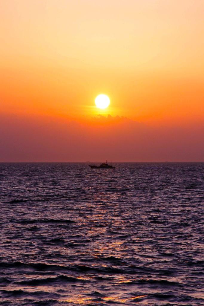 美しい海と夕日